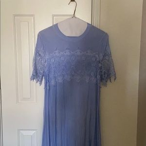 CLEARANCE: Tshirt material dress w/ lace trimming